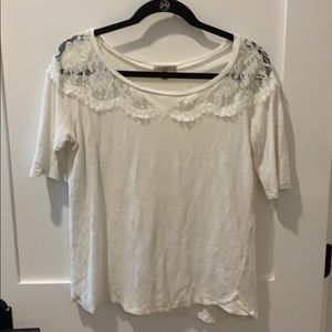 Anthropologie lace tee